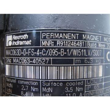 REXROTH ChristmasIsland INDRAMAT MAC063D-0-FS-4-C/095-B-1 PERMANET MAGNET MOTOR, Origin