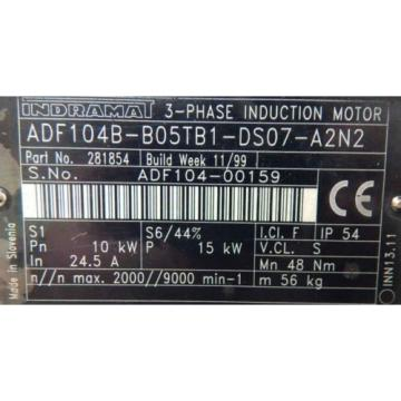REXROTH India  Indramat Servomotor ADF 104B-B05TB1-DS07-A2N2``used``