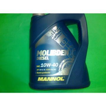 5L India MANNOL Molibden Diesel 10W-40 API CG-4/CF-4/SJ Motoröl Öl 10W40 ACEA E2/B3/A2