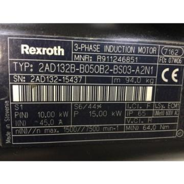 REXROTH Cameroon   3-Phase Induction Motor   2AD132B-B050B2-BS03-A2N1