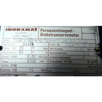 REXROTH Greenland INDRAMAT MAC112D-0-ED-4-C/130-A-1/WA608XX/S023 Servomotor - unused -
