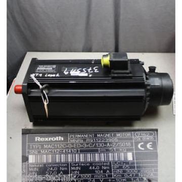 REXROTH Monaco INDRAMAT MAC112C-0-ED-3-C/130-A-2/S018 Servomotor R911223905