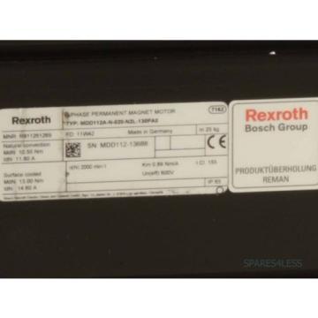 REXROTH Comoros Servomotor MDD112A-N-020-N2L-130PA0 REM