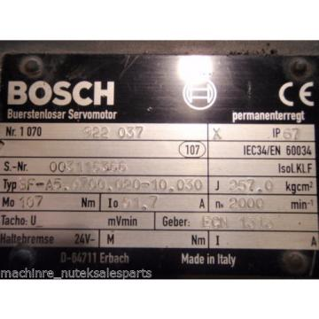 Bosch Cook Islands  Rexroth Buerstenloser 1070 922 037 Servo MOTOR SF-A50700020-10030