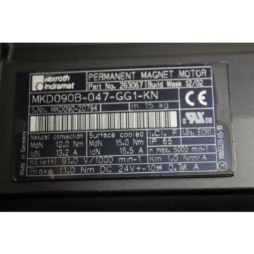 Rexroth Kyrgyzstan Indramat MKD090B-047-GG1-KN Servo motor MKD090B047GG1KN