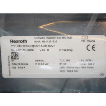 Bosch Guadeloupe  REXROTH Indramat Servomotor 2AD132D-B35OB1-AS07-B2V1 REM/OVP