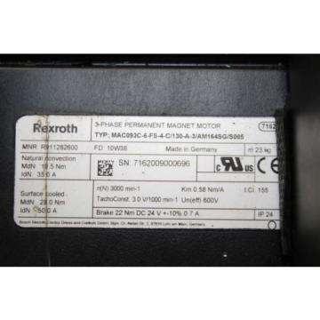 Rexroth Jordan MAC093C-6-FS-4-C/130-A-3/AM164SG/S005  servomotor servo motor