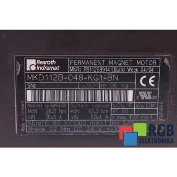 ROTOR Christmas Island  FOR MOTOR MKD112B-048-KG1-BN 356A 4500MIN-1 REXROTH INDRAMAT ID20032