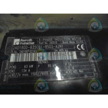 REXROTH Kyrgyzstan INDRAMAT 2AD180D-B350B1-BS03-A2N1 3-PHASE INDUCTION MOTOR Origin IN BOX