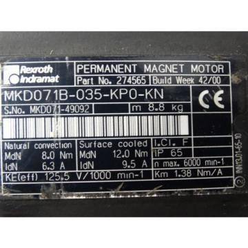 Rexroth DominicanRepublic Indramat MKD071B-035-KP0-KN W/ AccuDrive Reducer W0510010SZZS03DHMDKZ