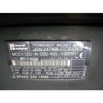 Rexroth ElSalvador / Indramat MDD112D-N-030-N2L-130PB1 Servo Motor, p/n: 247466