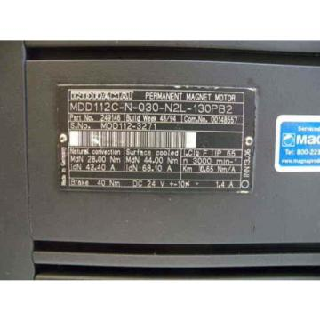 Rexroth Fiji / Indramat MDD112C-N-030-N2L-130PB2 Servo Motor, p/n: 249146