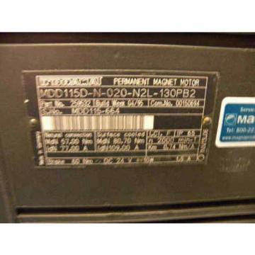 Rexroth Jordan / Indramat MDD115D-N-020-N2L-130PB2 Servo Motor, p/n: 259532