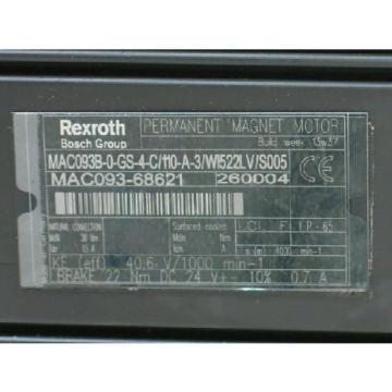 OriginBOSCH Guynea REXROTH MAC093B-0-GS-4-C/110-A-3/WI522LV/S005 AC SERV RTS0388455