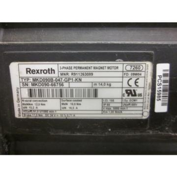 Rexroth Costa Rica  Indramat MKD090B-047-GP1-KN  3-Phase Permanent Magnet Motor