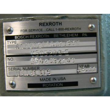 Rexroth Denmark Hydraulic Motor Variable Displacment R902092106 AA6VM200H01/63W VSD520B-