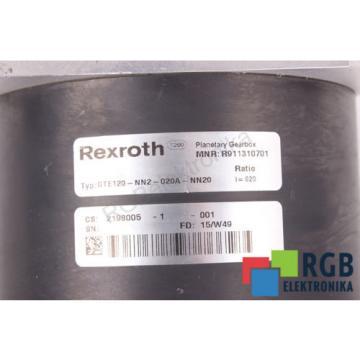 GEARBOX Latvia GTE120-NN2-020A-NN20 R911310701 I=20 REXROTH ID27483