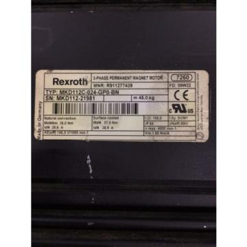 Rexroth Guam Permanent magnet motor MKD112C-024-GP0-BN