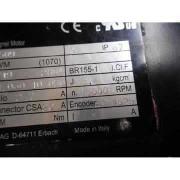 Rexroth Iran 1070076509 Motor Typ SF-A20041030-10050 27A 3000RPM QN1325 Encoder