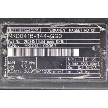 Indramat/ Latvia Rexroth MKD041B-144-GG0 Servomotor