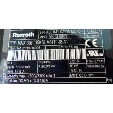 Rexroth Cuba 3-Phase Induktions Motor MAD130B-0150-SL-M6-FP1-05-N1 - unused/OVP -