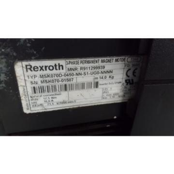 REXROTH Lithuania SERVO MOTOR MSK070D-0450-NN-S1-UG0-NNNN