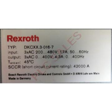 BOSCH Cameroon  REXROTH DKCXX3-016-7  |  Servo Drive Controller with DeviceNet