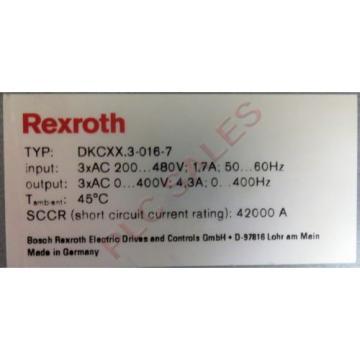 BOSCH Cameroon REXROTH DKCXX3-016-7  |  Servo Drive Controller with DeviceNet
