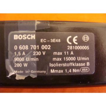 BOSCH Germany  REXROTH MOTOR EC-3E48 15 AMP 230 VOLT FOR PS 6 PRESS SPINDLE