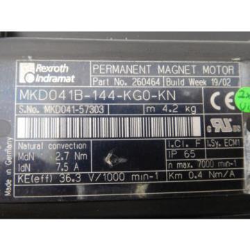Rexroth Ireland  Indramat MKD 041B-144-KG0-KN unused