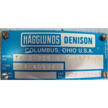 HAGGLUNDS Cuba DENISON T6CC-028-017-1R03-C100 HYDRAULIC VANE PUMP REBUILT