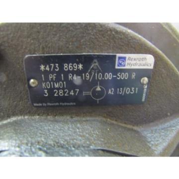 REXROTH Greece 1PF1R4-19/1000-500R 07363241 ROTARY GEAR HYDRAULIC pumps