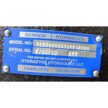 DENISON Liberia T6ED0660451R01B500 1 1/2#034; SHAFT 4#034; APPROX ID 4 BOLT PORT HYDRAULIC PUMP