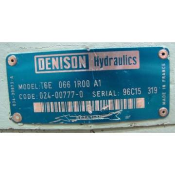 DENISON Georgia T6E 066 1R00 A1 T6E0661R00A1 SINGLE VANE HYDRAULIC PUMP