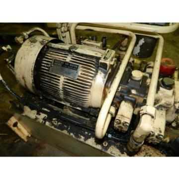 Nachi 3 HP Oil Hydraulic Unit, Nachi Variable Vane Pump VDR-11B-1A2-1A2-22, Used