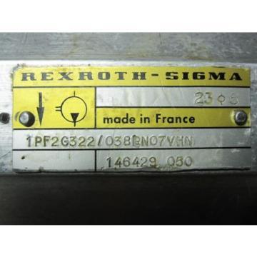 Origin Dominica REXROTH SIGMA GEAR pumps # 1PF2G322/038LN07VHN