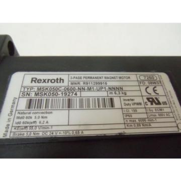 REXROTH Lithuania  MSK050C-0600-NN-M1-UP1-NNNN SERVO MOTOR Origin IN BOX