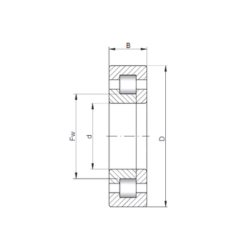 NUP28/1000 ISO Cylindrical Roller Bearings