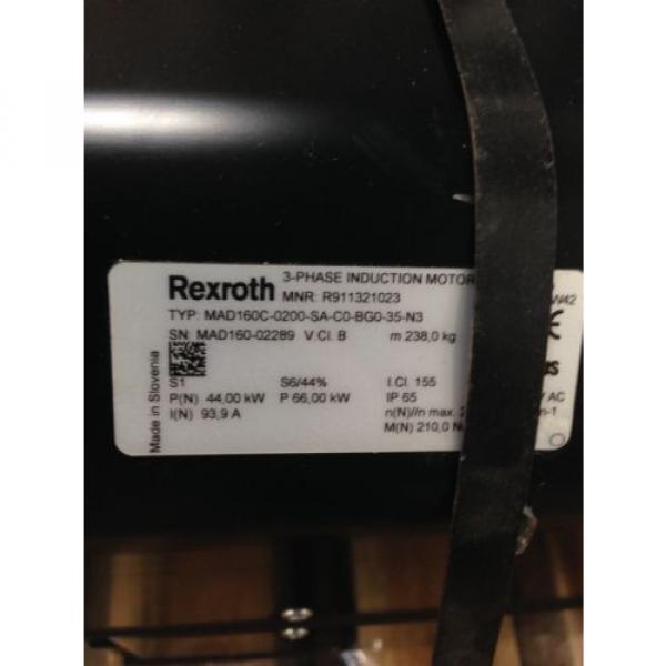 Origin Guynea REXROTH MAD160C-0200-SA-C0-BG0-35-N3 3 PHASE INDUCTION MOTOR R911321023 16H #2 image