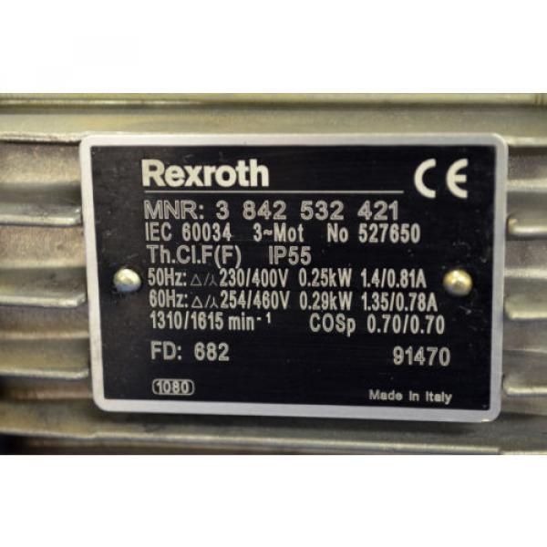 Rexroth ChristmasIsland Drehstrommotor MNR 3842532421 Motor 0,25kW Getriebemotor Rexroth #2 image