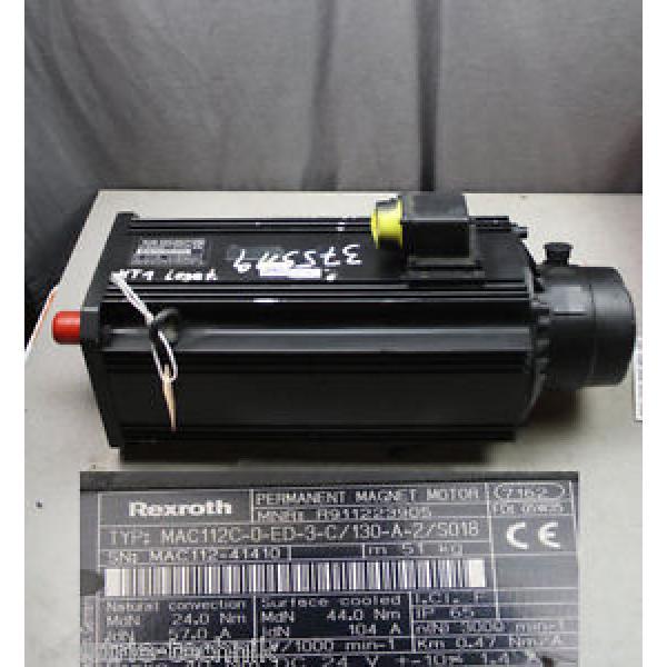 REXROTH Kuwait INDRAMAT MAC112C-0-ED-3-C/130-A-2/S018 Servo motor R911223905 #1 image
