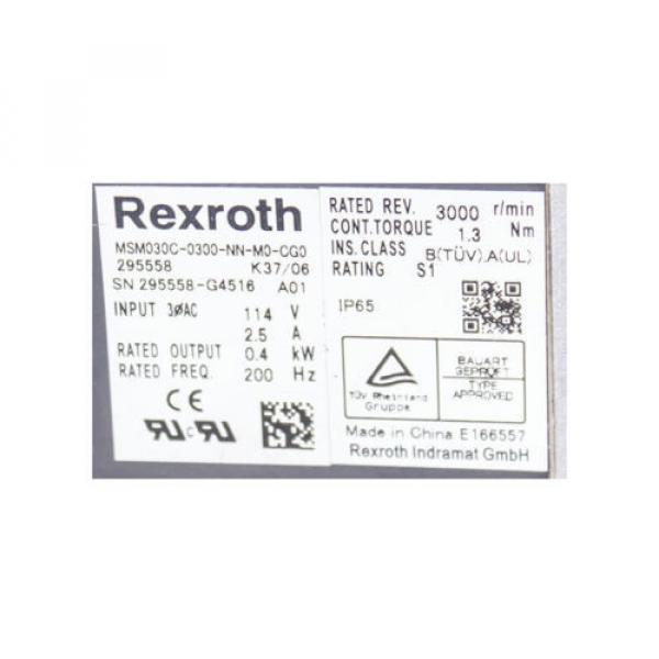 REXROTH Italy MSM030C-0300-NN-M0-CG0 295558 SERVO MOTOR #3 image