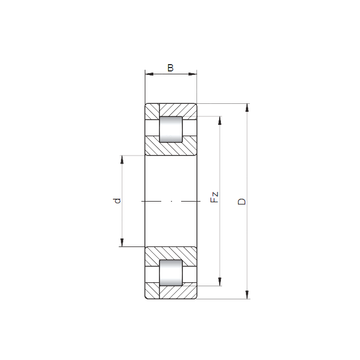 NP3236 ISO Cylindrical Roller Bearings #1 image